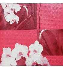 Тапет PVC Орхидея червен