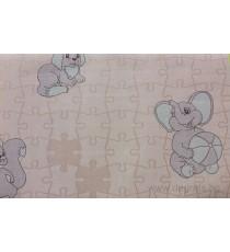 Тапет хартиен Пъзел розов