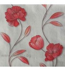 Тапет хартиен  Мира бял-червен