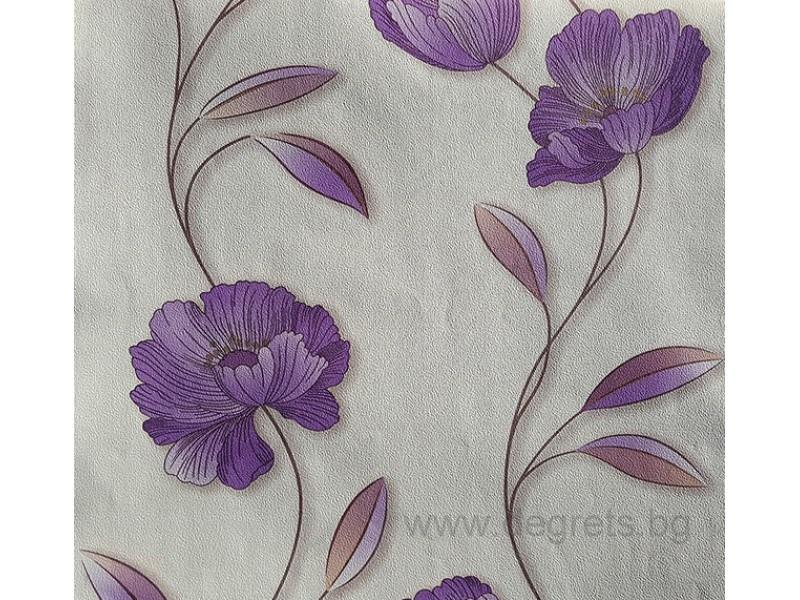 Тапет хартиен  Мира бял-лилав