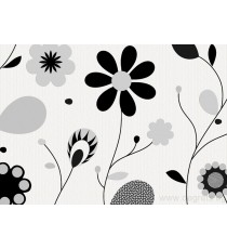 Тапет винил Делайт черно цвете